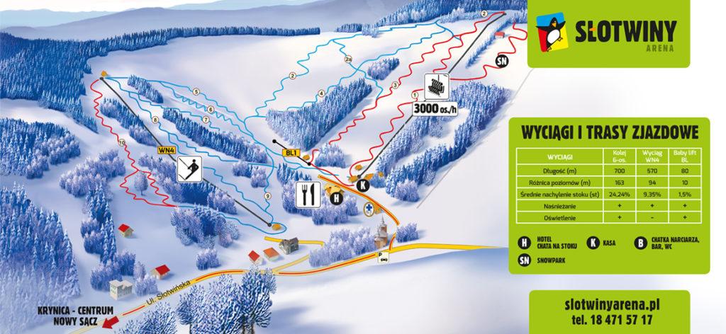 Słotwiny Arena - mapa tras